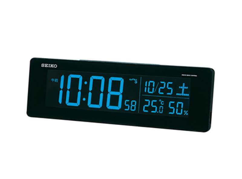SEIKO 製品番号:DL205K文字色選べる電波クロック