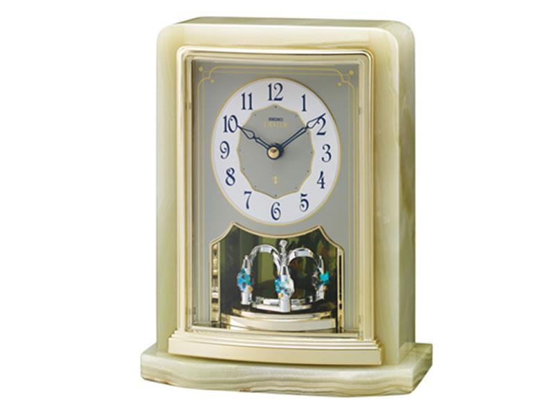 SEIKO 製品番号:HW465Gエンブレムオニキス枠置時計