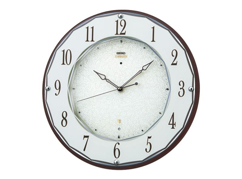 SEIKO 製品番号:HS524Bエンブレム電波掛け時計