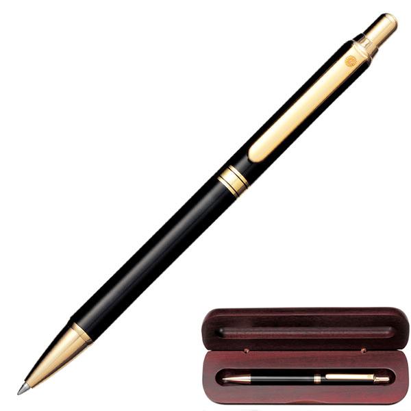 WP-5423ぺんてるボールペン(黒)ウッドケース入