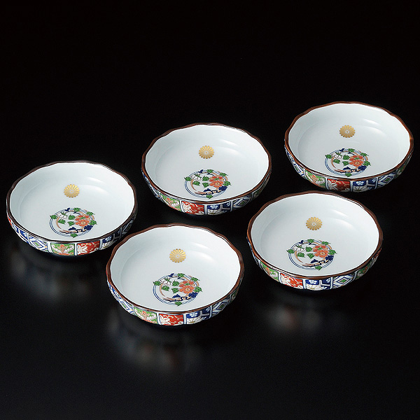 NH-2915小皿揃 古伊万里菊型
