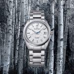 新たなデザインシリーズ「シリーズ9」より、美しい白樺の林をイメージしたモデル(ホワイトバーチ)が入荷しました。グランドセイコーメカニカルハイビート36000モデル SLGH005