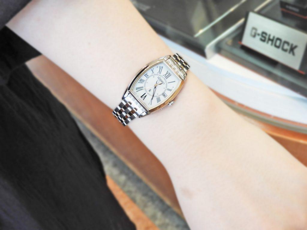 【お客様レポートno.329】高級感のある レディゴールドカラー、ダイヤモンド、白蝶貝ダイヤルを使用した特別なモデルに惹かれて…セイコールキアSSVW180